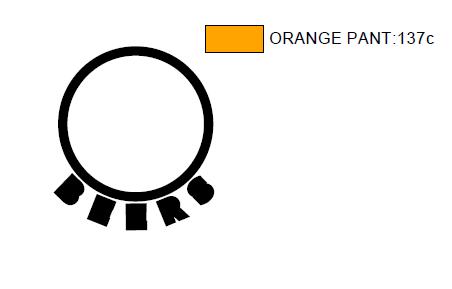 Orange layer design for printed glassware