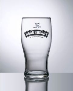Toughened 20oz Tulip Pint Glass